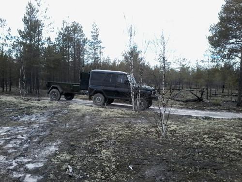 Транспорт для вывоза листьев в лес
