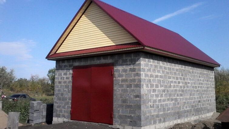 Построили гараж